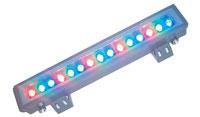 Влагозащищённый линейный RGB диодный прожектор