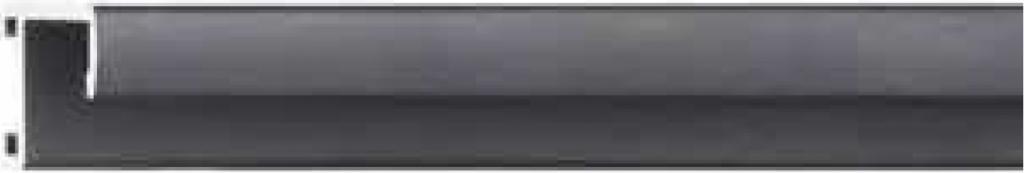 Профиль 201021, окрашенный, черный матовый для изготовления багетных рам